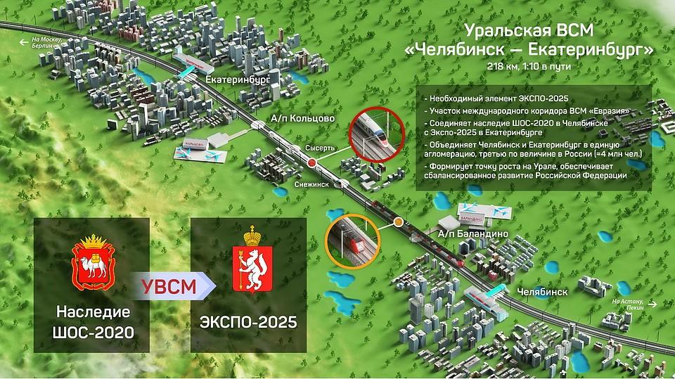 Высокоскоростная магистраль Челябинск-Екатеринбург увеличит ВРП Южного Урала практически натриллион руб.