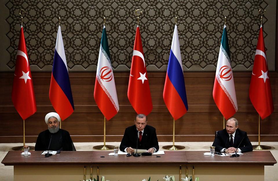 РФзапросила совещание СБООН порезультатам встречи Владимира Путина, Эрдогана иРоухани