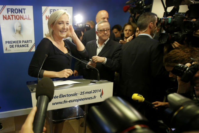 Лидер Национального фронта Мари Ле Пен