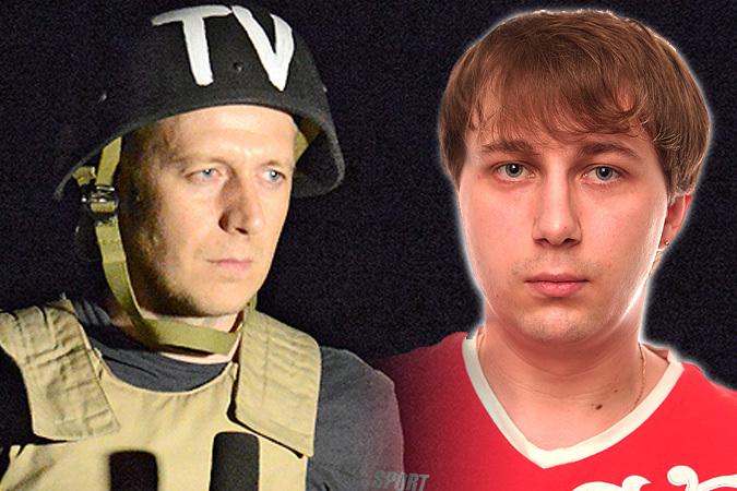 Журналисты ВГТРК Игорь Корнелюк (слева) и Антон Волошин попали под минометный обстрел на блокпосту луганских ополченцев