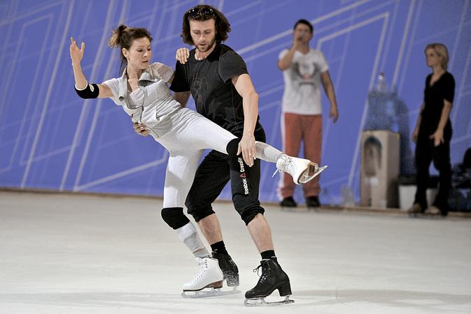 Елена Подкаминская решила выиграть, поэтому тренируется с Петром Чернышевым с утра до вечера.