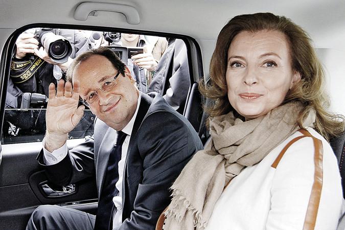 Олланд и Валери (на фото) прожили в гражданском браке девять лет. Но пришла пора сделать друг другу ручкой...