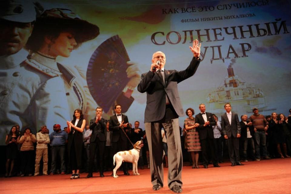 Никита Михалков на премьере своего нового фильма в Москве