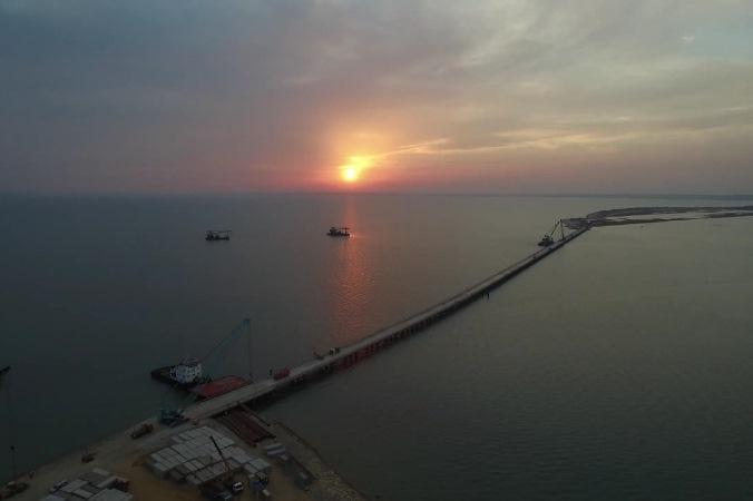 """Первый мост уже построен Фото: Инфоцентр """"Крымский мост"""""""