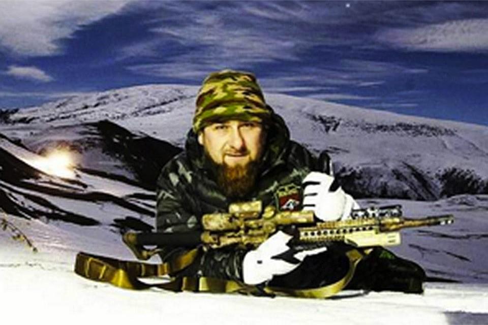 Кадыров снялся со снайперской винтовкой