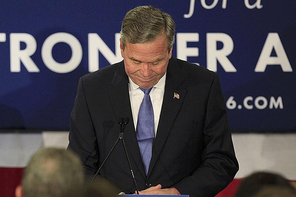 Джеб Буш объявил о том, что покидает президентскую гонку.