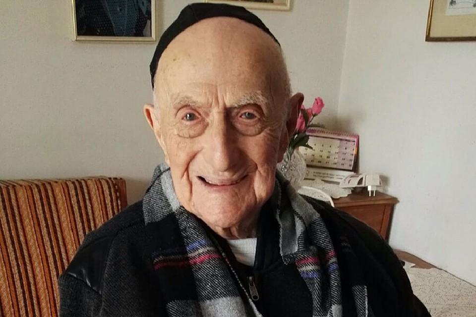112-летний Исраэль Кристал признан самым старым человеком нашей планеты