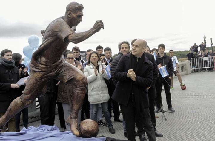Церемония открытия статуи Лионелю Месси в Буэнос-Айресе. Фото: официальный сайт мэрии Буэнос Айреса.