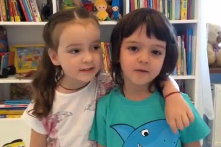 Мартину сегодня исполнилось 4 года - с днем рождения его поздравила сестра Алла-Виктория