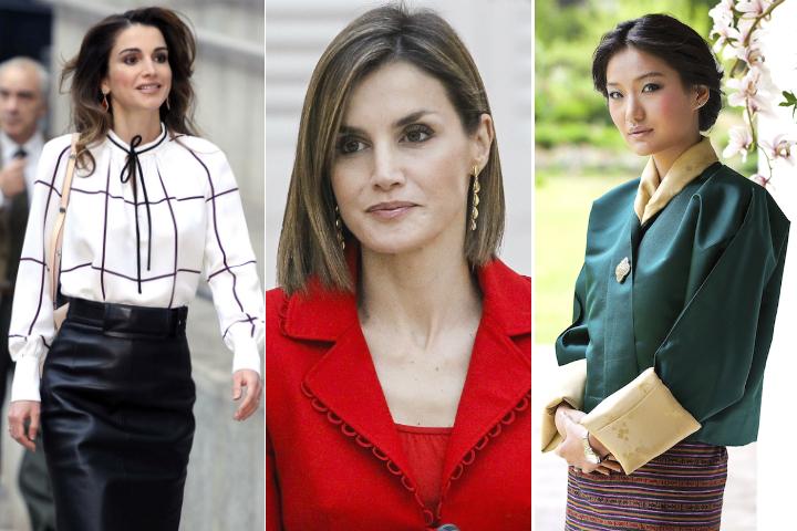 Слева направо: королева Иордании Рания, королева Испании Летисия и королева Бутана Джецун. Фото: EAST NEWS