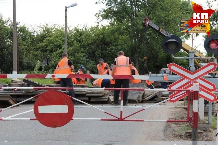 ВИжевске закроют движение транспорта через железнодорожный переезд наулице Телегина