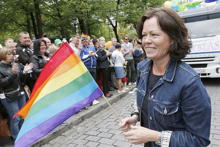 В Норвегии суд отклонил апелляцию британки, запустившей в министра тортом. Фото: с сайта abcnyheter.no