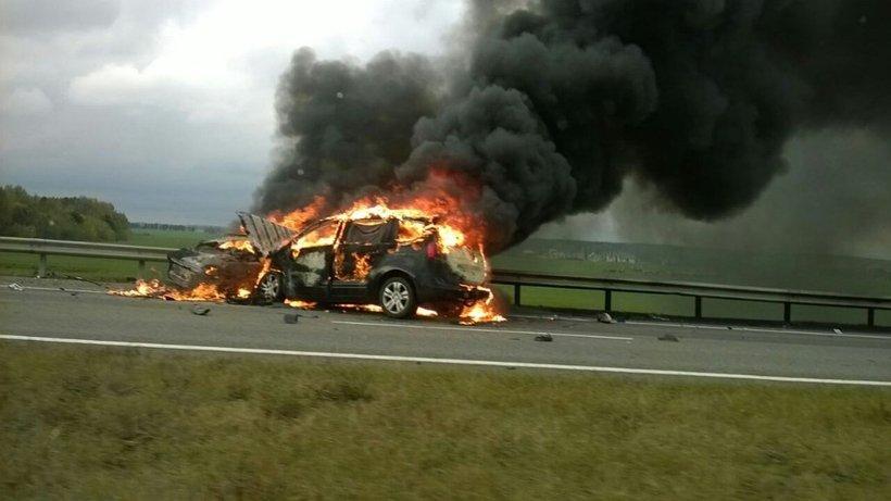 Страшная авария на M1. Фото: 112.by