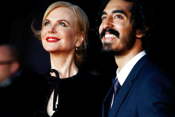 """На премьере фильма """"Лев"""" компанию Николь составил индийский актер Дев Патель."""