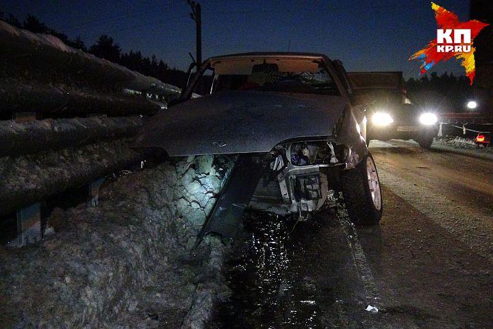 Шофёр ВАЗа разбился наМосковском тракте
