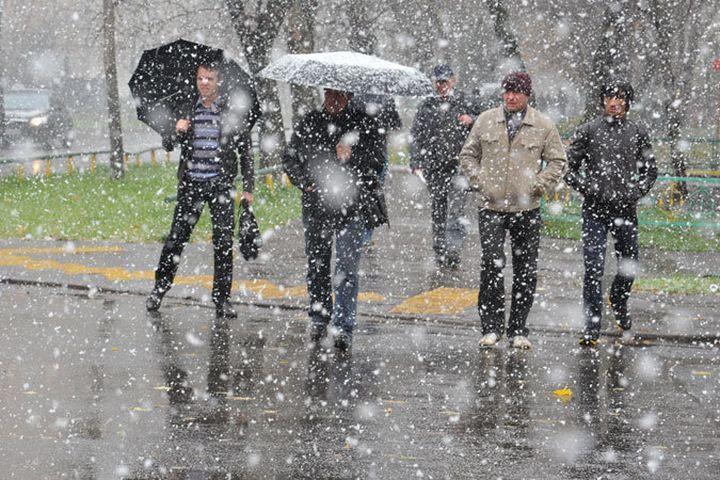 Снег идожди ожидаются вРеспублике Беларусь ввыходные