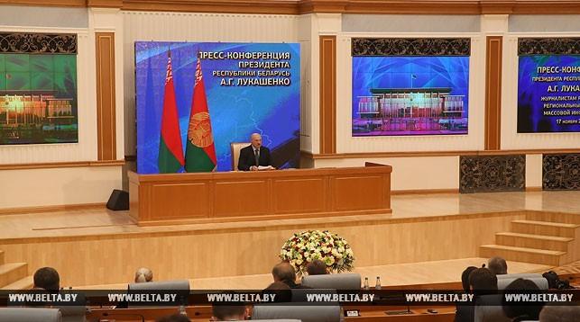 Лукашенко о выборах в США: «Молитесь богу, что не Клинтон – а Трамп!». Фото: БелТА.