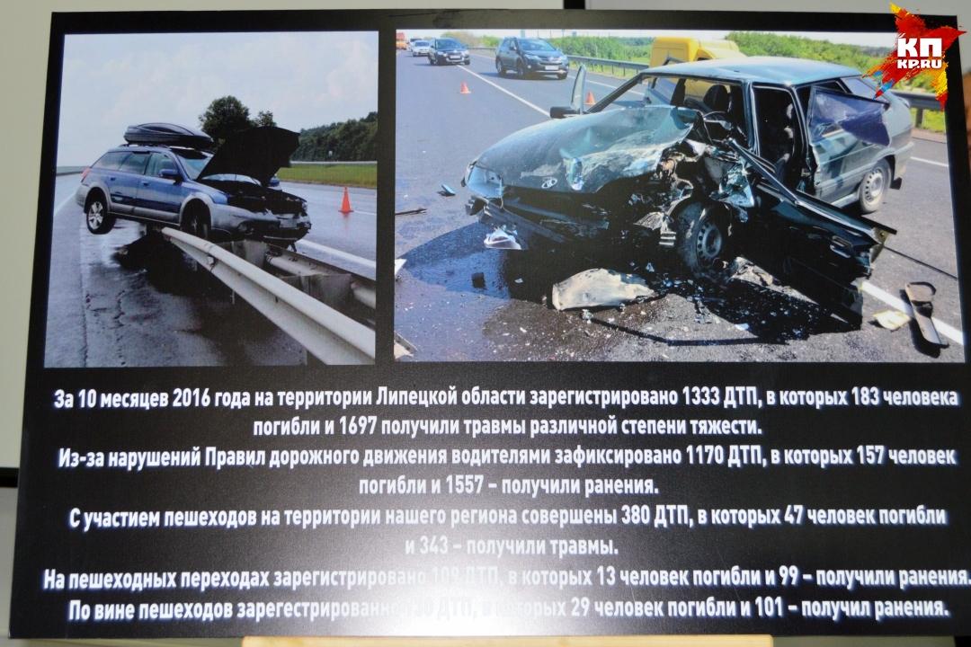 Фотовыставка самых страшных аварий в Липецкой области