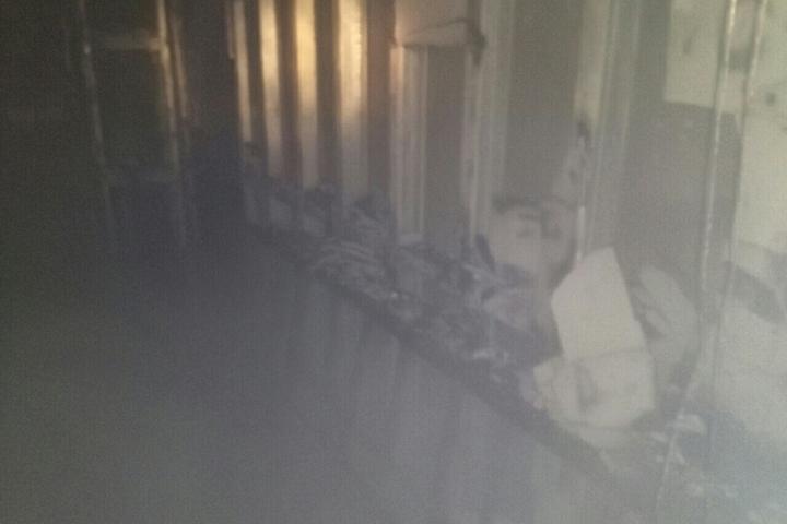 Вадминистративном помещении прежнего иняза произошел пожар