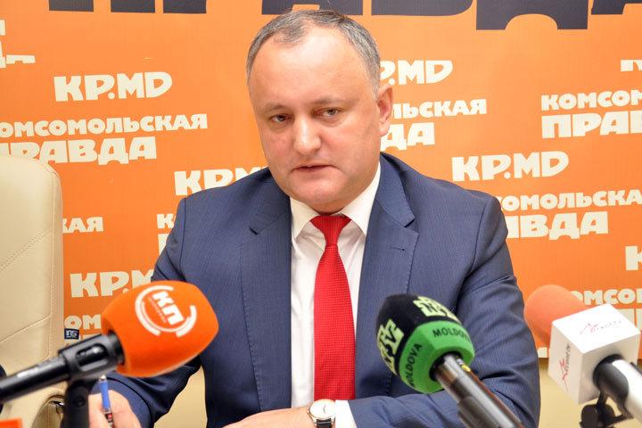 Игорь Додон ответил на вопросы читателей «Комсомольской правды» в Молдове в ходе «прямой линии»