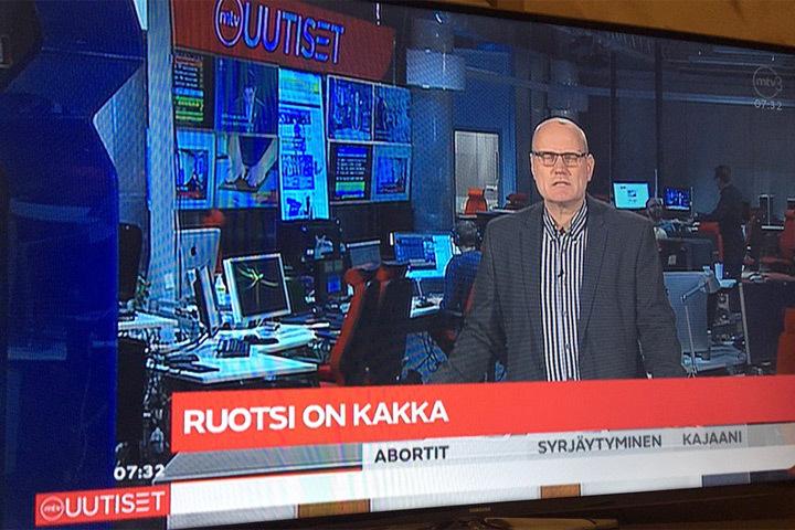 """В эфире финского госканала Швецию назвали """"какашкой"""". Фото: с сайта twitter.com"""