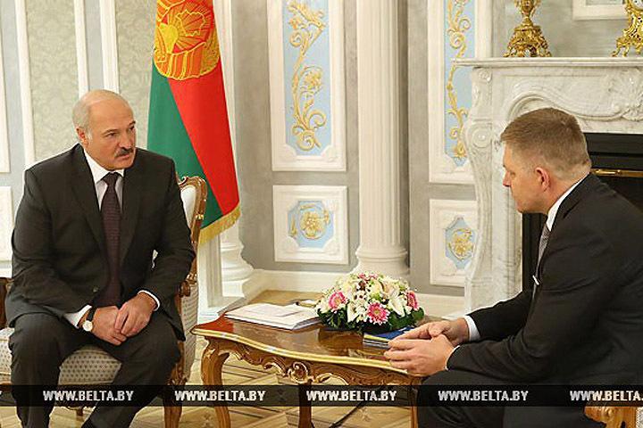 Лукашенко благодарен Словакии за нормализацию отношений Беларуси и ЕС. Фото: БелТА.