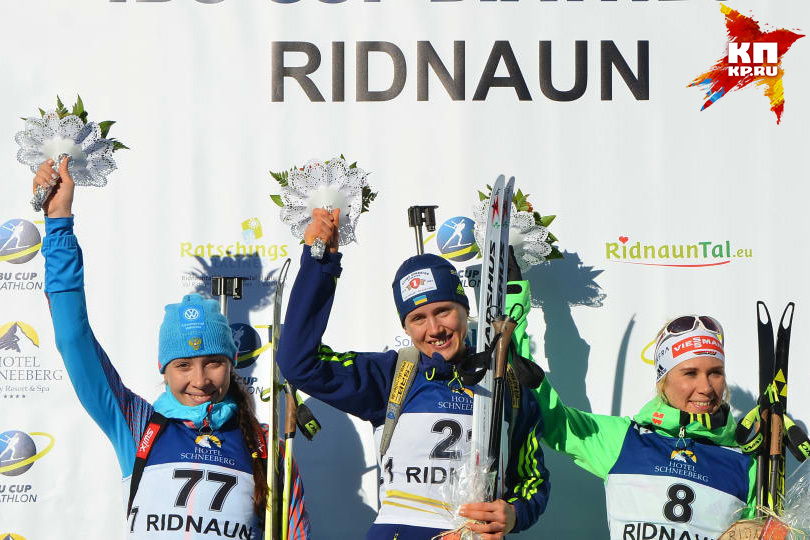 Ульяна Кайшева выиграла 3 медали наэтапе Кубка IBU вИталии ФОТО