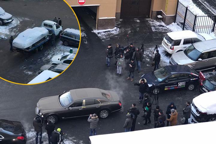 Эвакуацию дорогого авто заметили соседи Хорошавина Фото: Facebook