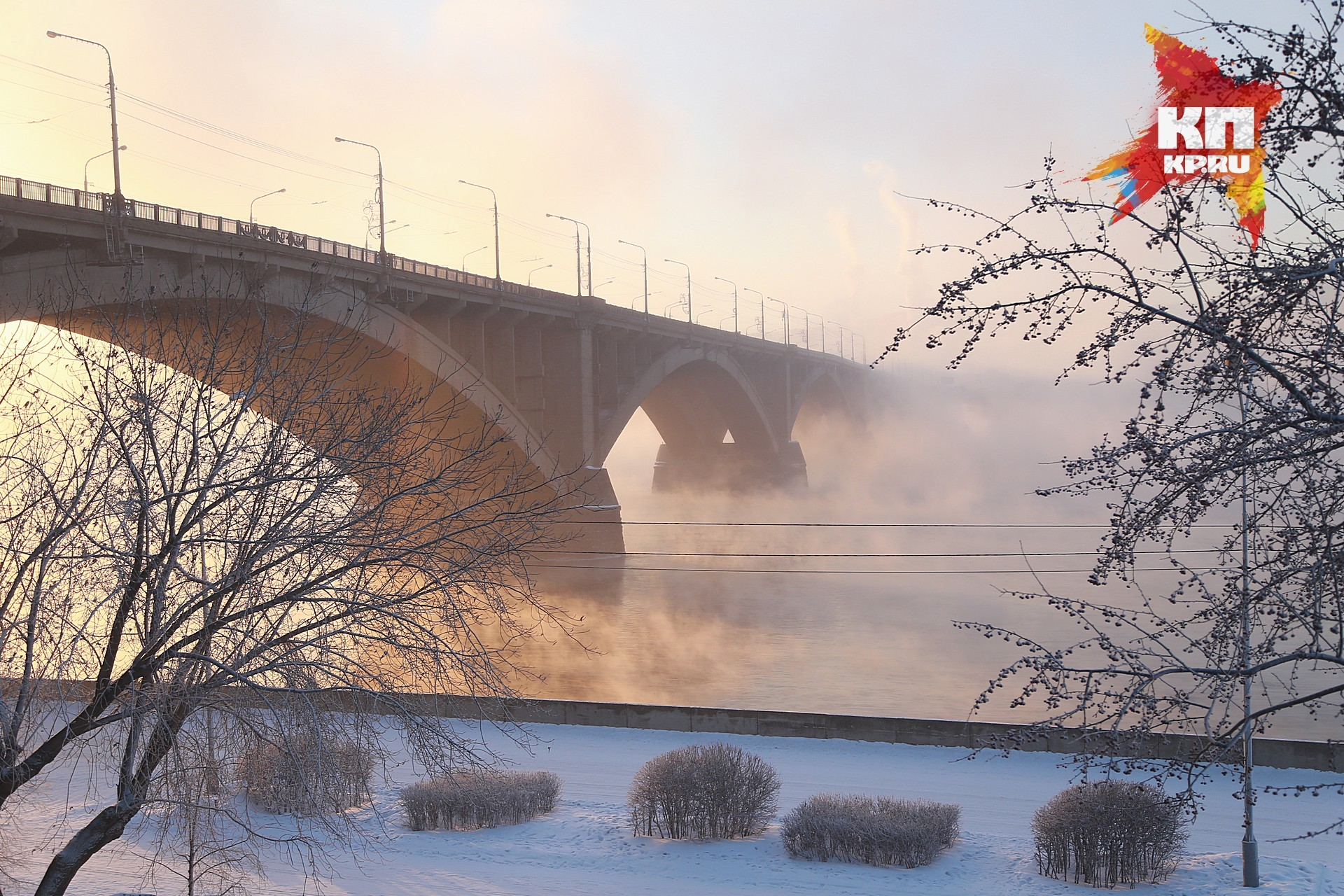 Возникла пробная схема движения транспорта впроцессе ремонта Коммунального моста вКрасноярске