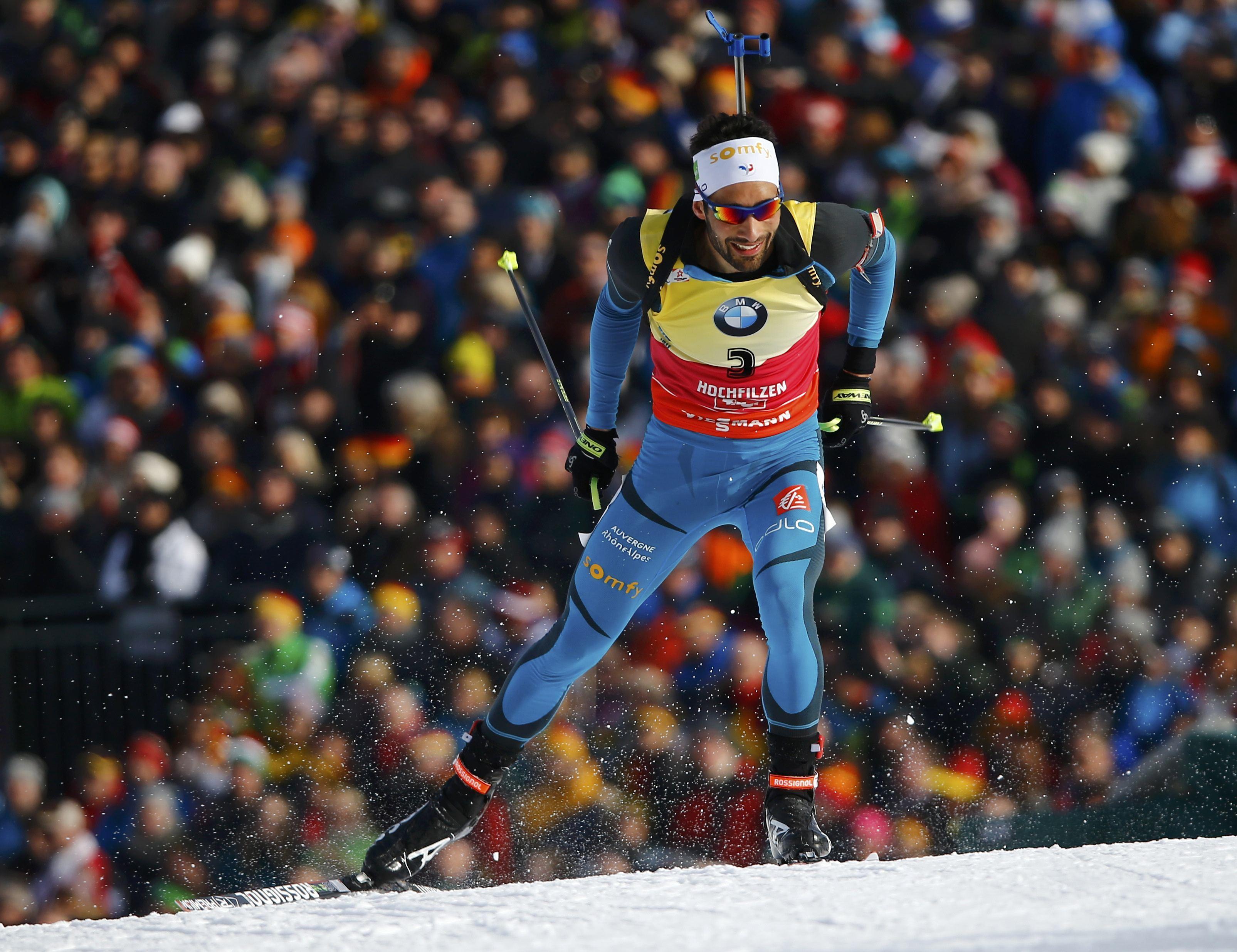 Мартен Фуркад одержал победу гонку преследования наЧМ побиатлону