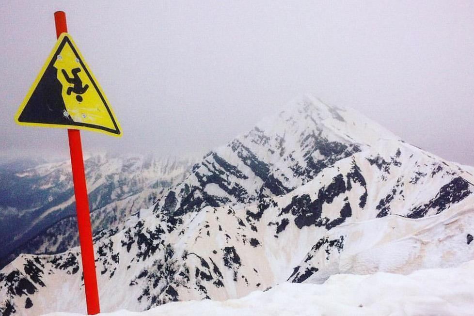 Вгорах Сочи реален сильный снегопад