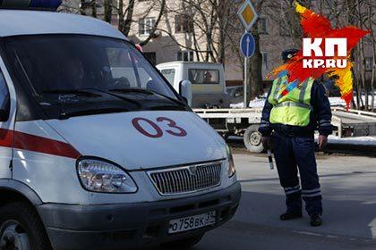 Наомской трассе автобус спассажирами съехал вкювет