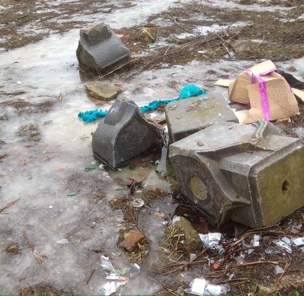 Загадочные надгробия отыскали под снегом напустыре Петроградки