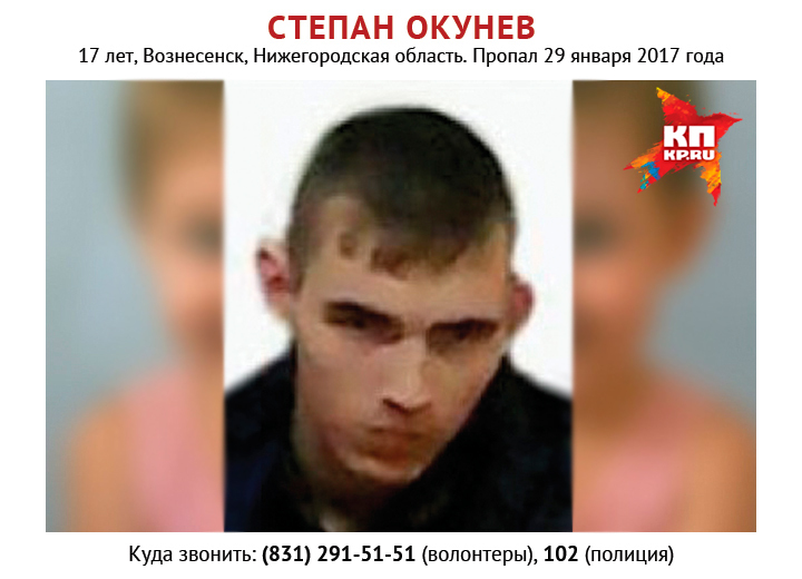 ВНижегородской области пропал 17-летний Степан Окунев
