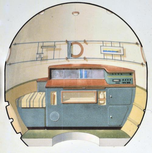 А вот так выглядел эскиз отсека с акварелью Балашовой.