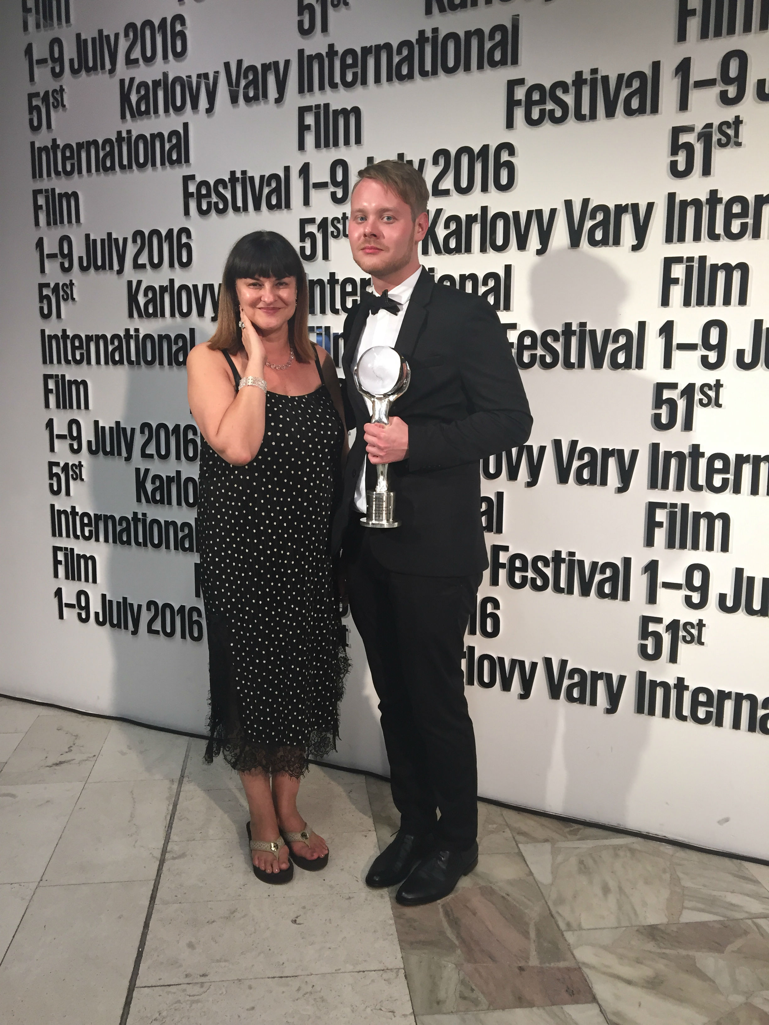 Ситора Алиева (программный директор Кинотавра) и Иван Твердовский. Фото пресс-службы фестиваля