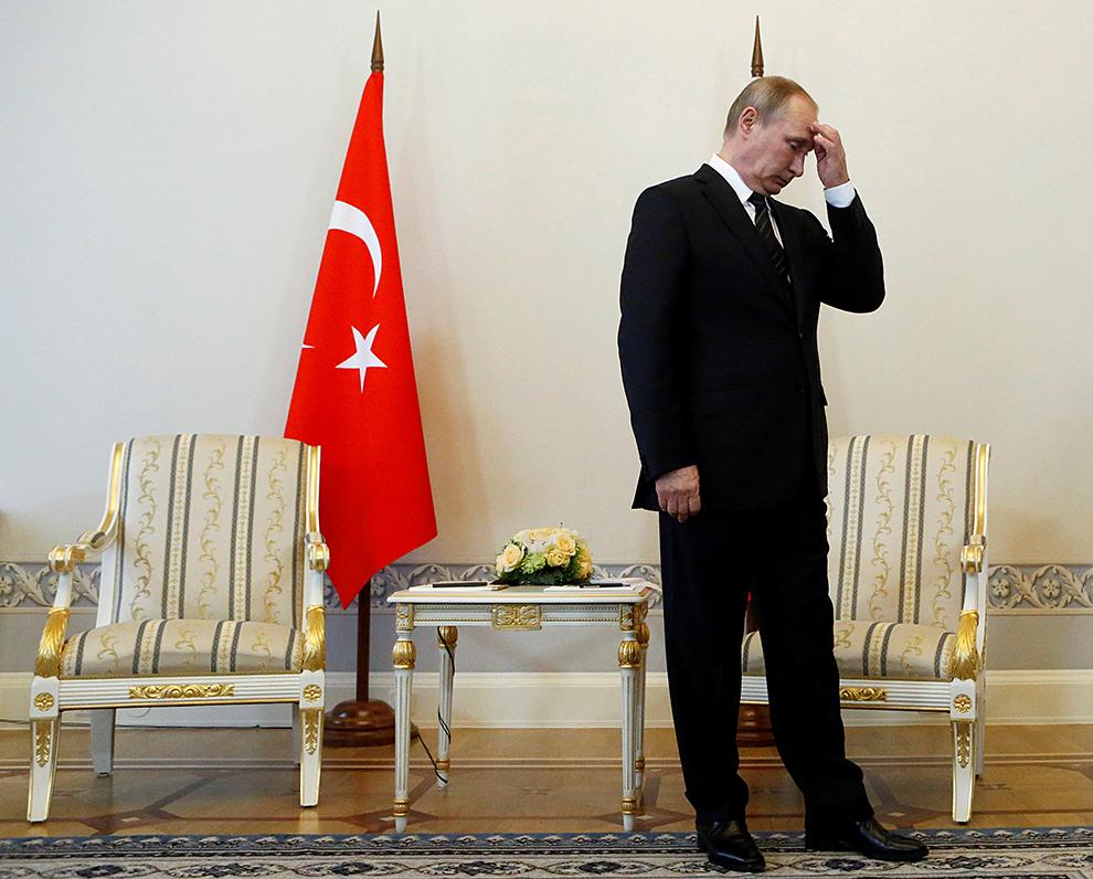 Путин желает сотрудничать сЭрдоганом «воимя интересов народов Турции иРФ»