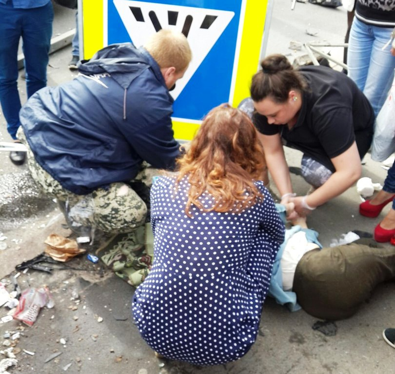 Бабушку натротуаре наЛуначарского сбили пацаны надорогом внедорожнике— свидетели