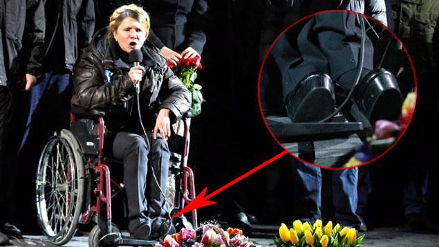 Всего несколько дней назад Юлия Владимировна не могла стоять, даже перед «майдановцами» она появилась в инвалидной коляске Фото: REUTERS