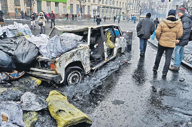 Киев, 2014 год, 10 лет после «оранжевой» революции. США продолжают «демократизировать» мир...