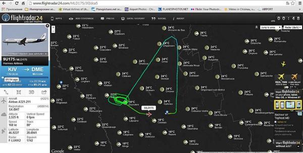Вторая попытка улететь самолета Кишинев-Москва