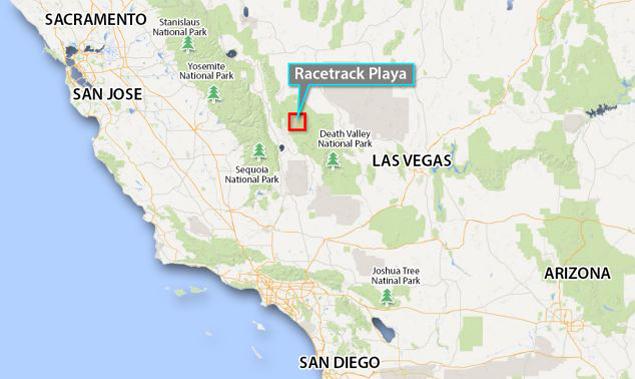 Место  - единственное в мире, где ползают камни. Фото Google map.