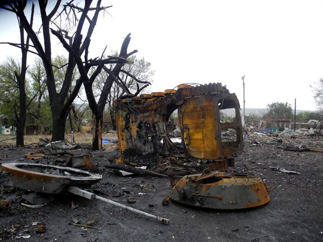 Сожженная техника украинских военных. Фото: Александр ГРИШИН