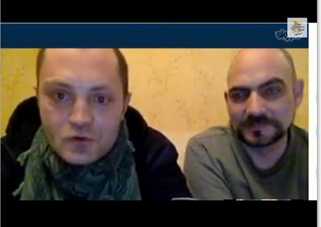 Наши ребята Саша Коц и Дима Стешин присоединились к эфиру прямо из горячей точки