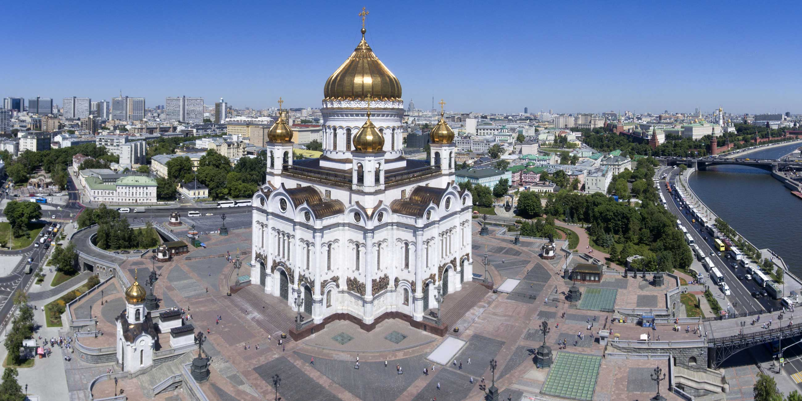 Храм Христа Спасителя - самое большое культовое сооружение в России.Фото: globallookpress.com