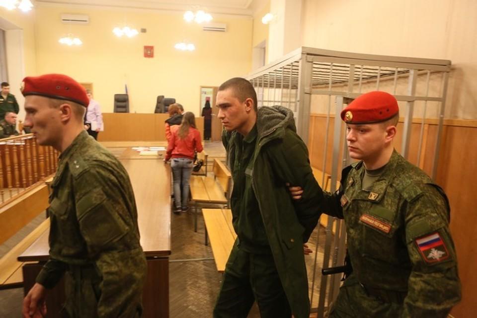 На фото - Давид Зиганшин на суде во время избрания меры пресечения.