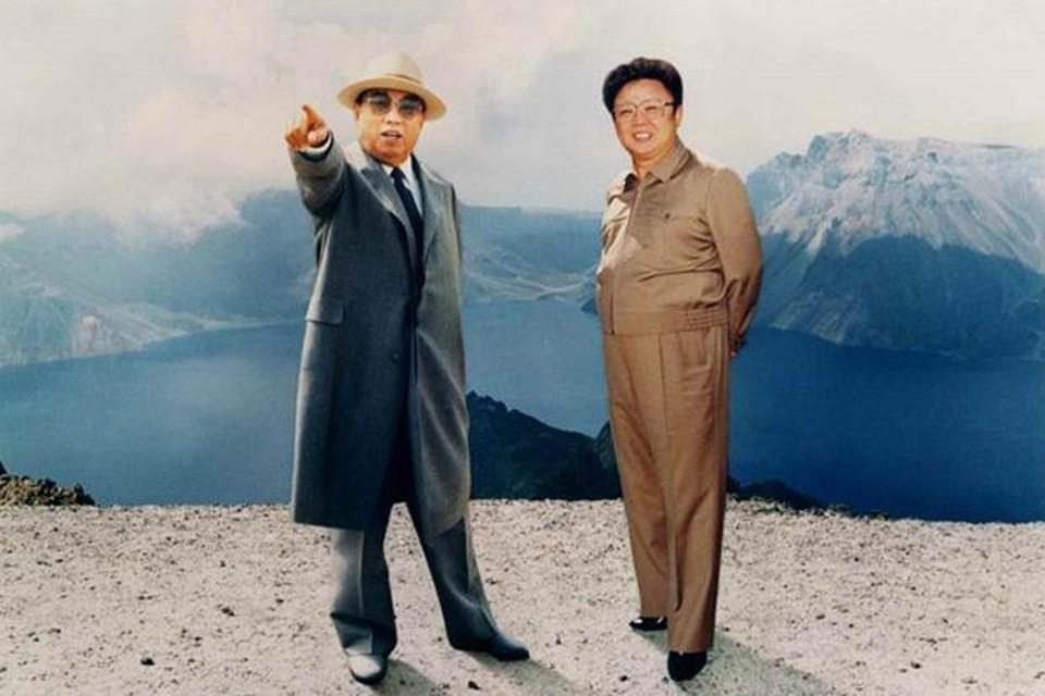 Ким Ир Сен и Ким Чен Ир.