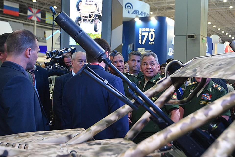 Министр обороны Сергей Шойгу на открытии форума «Армия-2017»