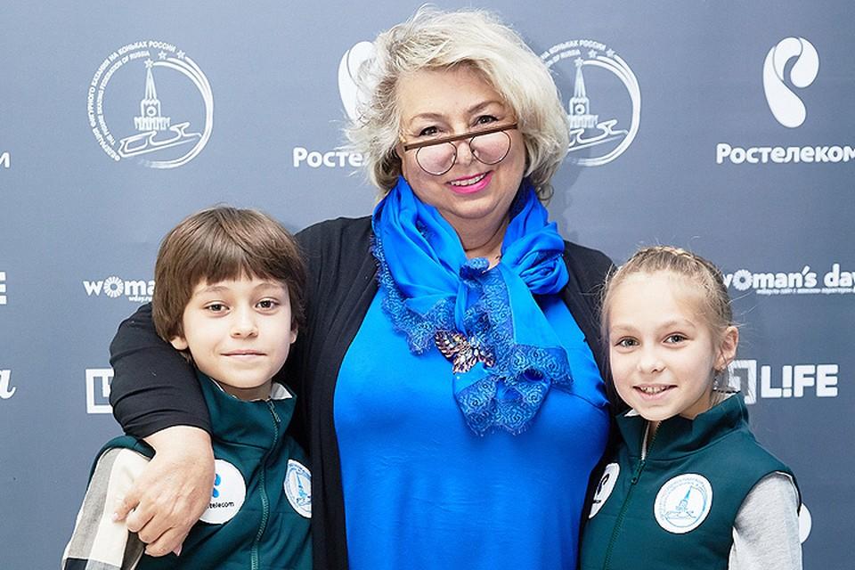 Татьяна Тарасова с участниками проекта «Дети на льду. Звезды».