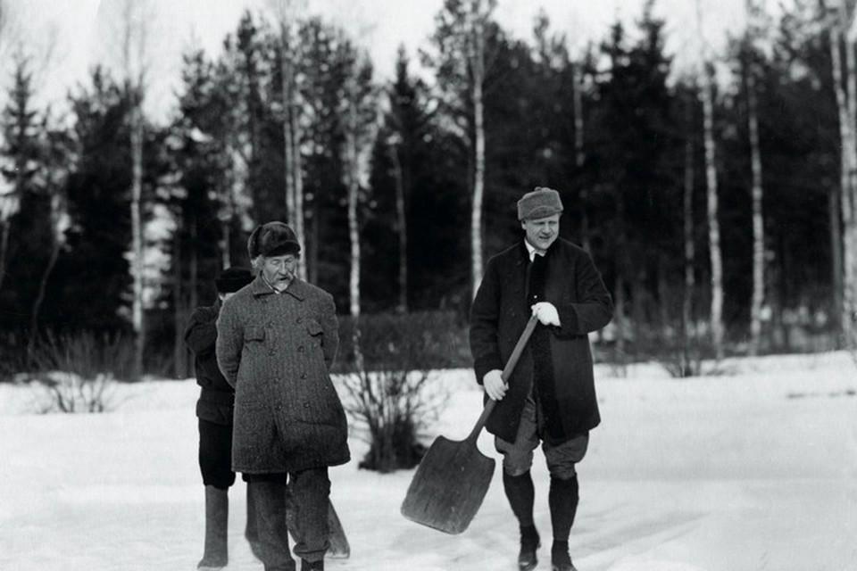 Фёдор Шаляпин и Илья Репин. Фото предоставлено Фондом исторической фотографии имени Карла Буллы.